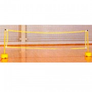 Kit découverte mini tennis - Composition : 2 bases à lester + 2 tubes de 90cm + 1 filet de 3m