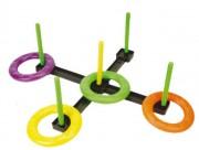 Kit jeux d'adresse anneaux - 5 cibles - 4 anneaux