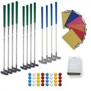 Kit minigolf 26 à 40 pistes - 92 clubs, 200 balles, cartes, supports et panneaux d'information