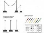 Kit poteaux et chaine plastique - 2 m de chaîne plastique