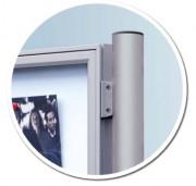 Kit poteaux pour vitrine - Aluminium anodisé argent ou peint
