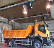 Kit rail d'extraction gaz avec enrouleur - Rail de 12 mètres de longueur