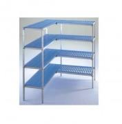 Kit rayonnage pour chambre froide - Montage facile, rapide et sans outils  -  jusqu'à 150kg par niveau