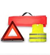 Kit sécurité 3 pièces - Gilet de sécurité  -   Triangle de sécurité   -  Housse de transport