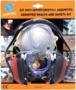 Kit sécurité professionnel - Casque antibruit + lunettes + masque + bouchons