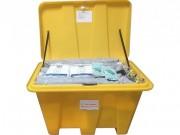 Kits d'intervention pour hydrocarbures - Absorption 600 L - Coffre en PEHD