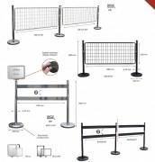 Kits de barrières et poteaux en inox - Dimensions (L x H) mm : 1500 x 1000