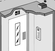 L'affichage de niveau indépendant dans la cabine