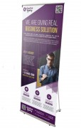 L-banner - Dimension (l x H x P) : 800 x 1800 x 490 mm