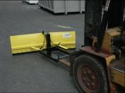 Lame à neige pour chariot élévateur - Dimensions lame L x h (mm): 1600 x 500