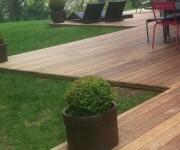 Lame de terrasse en bois exotique Cumaru - Dimensions : 21 x 145 mm