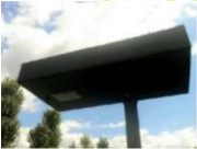 Lampadaire solaire public - Eclairage : 360°