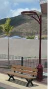 Lampadaire urbain à Led - 12 Led de puissance : 12 W 1 W/ Led