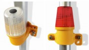 Lampe à led pour clôture chantier - Mode d'illumination : clignotant ou statique