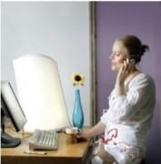 Lampe anti-stress par luminothérapie - Distance de traitement : 115 cm (2500 lux) - Puissance consommée : 2 x 80 W
