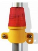 Lampe pour clôture de chantier - Taille (mm) : 1200 x 118 x 95