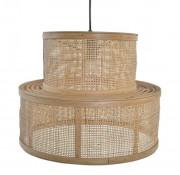 Lampe de plafond en rotin - Lampe de plafond de style ethnique fabriquée en rotin naturel