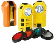 Lampe de poche LED étanche - Rechargeable sur secteur - Fonction auto-allumage