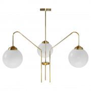 Lampe de style Mid Century  - Lampe de plafond de style Mid-Century avec abat-jour en verre