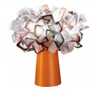 Lampe de Table Clizia Orange SLAMP - Lampe de Table Clizia Orange SLAMP présente un design moderne mais élégant qui se distingue par ses formes irrégulières encastrées en parfaite équilibre et reflets qui captent et diffusent la lumière