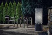 lampe extérieur Flora - lampe design alliant les matériaux caoutchouc et acier inox