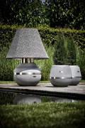 lampe extérieur Gratus - lampe design alliant les matériaux caoutchouc et acier inox