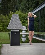 lampe extérieur Linea - lampe design alliant les matériaux caoutchouc et acier inox