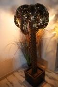 Lampe Palmier - Lampe dorée finition Gold