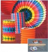 Lampions - Lampions cylindriques - Dimensions: ø 13 cm ou 16cm