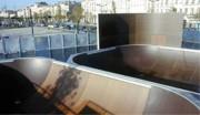 Lanceur pour skatepark largeur 5 ou 5.50 m - Hauteur à la table 1.50 m - Largeur : 5 ou 5.50 m - Longueur : 5.65 ou 5.50 m