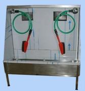 Lave bottes manuel double poste - Caisson inox 304L