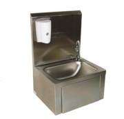 Lave-mains et distributeur de savon - Dimensions : H 560 x L 420 x P 360 mm