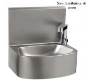 Lave-mains électrique monobloc - Inox AISI 304L- Dim ( L x l x H) :  480 x 360 x  470 mm- Avec ou sans distributeur