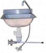 Lave-mains en inox - Dimensions : H 200 x L 380 x P 330 mm
