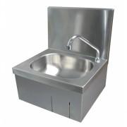 Lave-mains inox  - Inox AISI-304 18/10 - Dimensions: L 400 x P 330 x H 450 mm