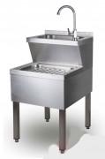 Lave-mains inox industriel - 2 profondeurs : 320 ou 420 mm