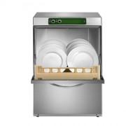 Lave-vaisselle professionnel panier carré 500x500 - Hauteur utile de lavage : 350 mm - Panier de 500 x 500 mm