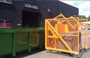 Lève conteneurs pour bennes amovibles - Conteneurs 4 roues : du 660 - 770 ou 1100 L