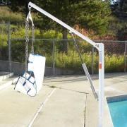 Lève-personne de piscine amovible manuel - Capacité de charge : jusqu'à 180 kg