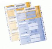 Liasses recommandées en continu - Support autocollant