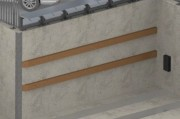 Lisse bois pour protection murale - En bois - Fixation par chevilles d'ancrage