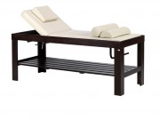 Lit de massage en bois - Dimensions (L x l x H) : 200 x 71,5 x 77 cm