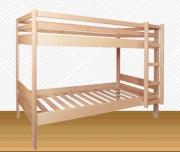 Lit superposé en bois - Largeur : 2060/1960 mm