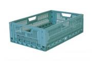Location caisse plastique pliable - Dim. ext. 600 x 400 x 212 mm - Capacité de charge (poids max.) 20 kg