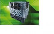 Location conteneur pliable grande capacité - Dim. int. 1120 x 920 x 990 mm - capacité de charge recommandée 500 kg - 750 kg