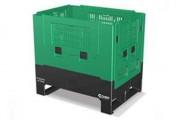 Location de bac pliable en plastique - Dim. ext. 800 x 600 x 760 mm - volume interne 250 l.
