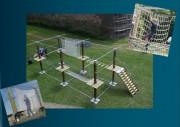 Location de parc acrobatique pour enfant - En intérieur ou en extérieur  - 6 ou 12 ateliers - espace est modulable