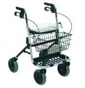 Déambulateur à roulettes poignées ergonomiques - Déambulateur à roues à système de freinage par câble