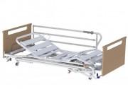 Location lit médicalisé patient Alzheimer fixation de sécurité à cames - Lit médical avec dosserets et barrières pliantes