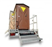Location remorque sanitaire autonome - Gamme de 1 à 3 WC